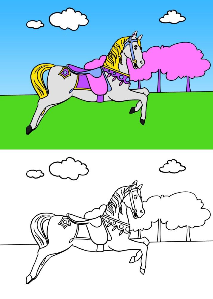 dessin le cheval 2