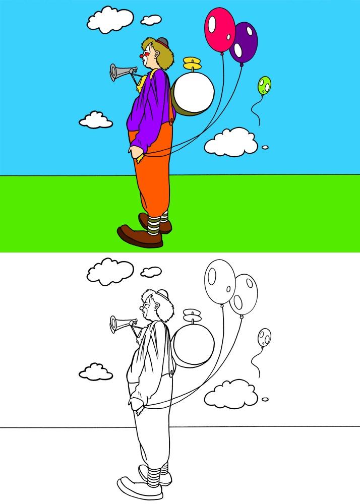 dessin le clown 2