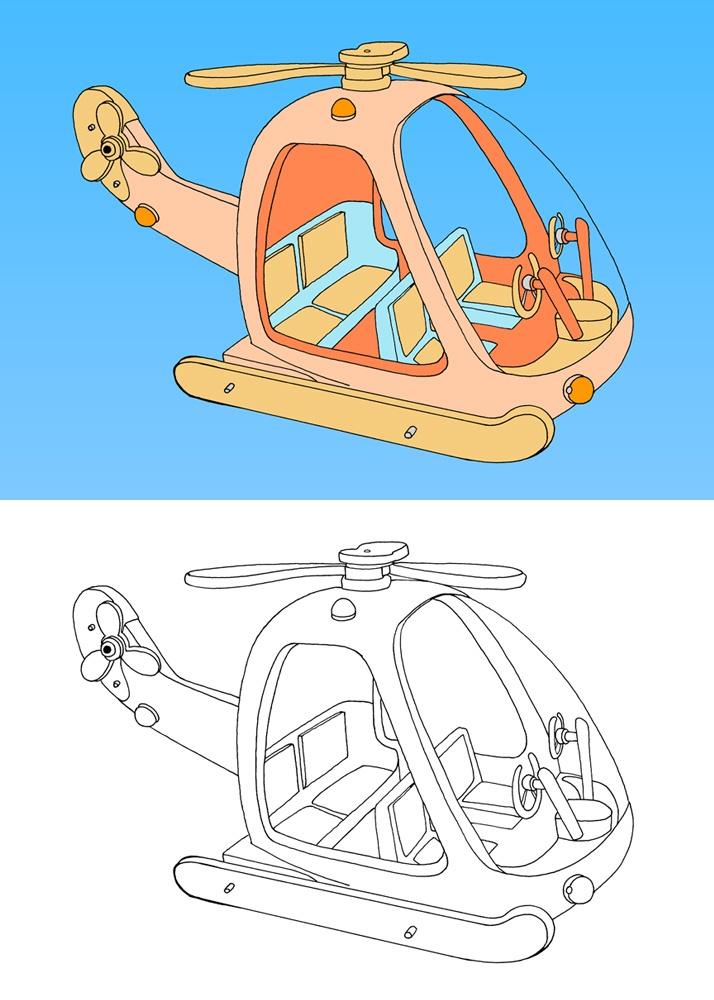 dessin lhlicoptre 2